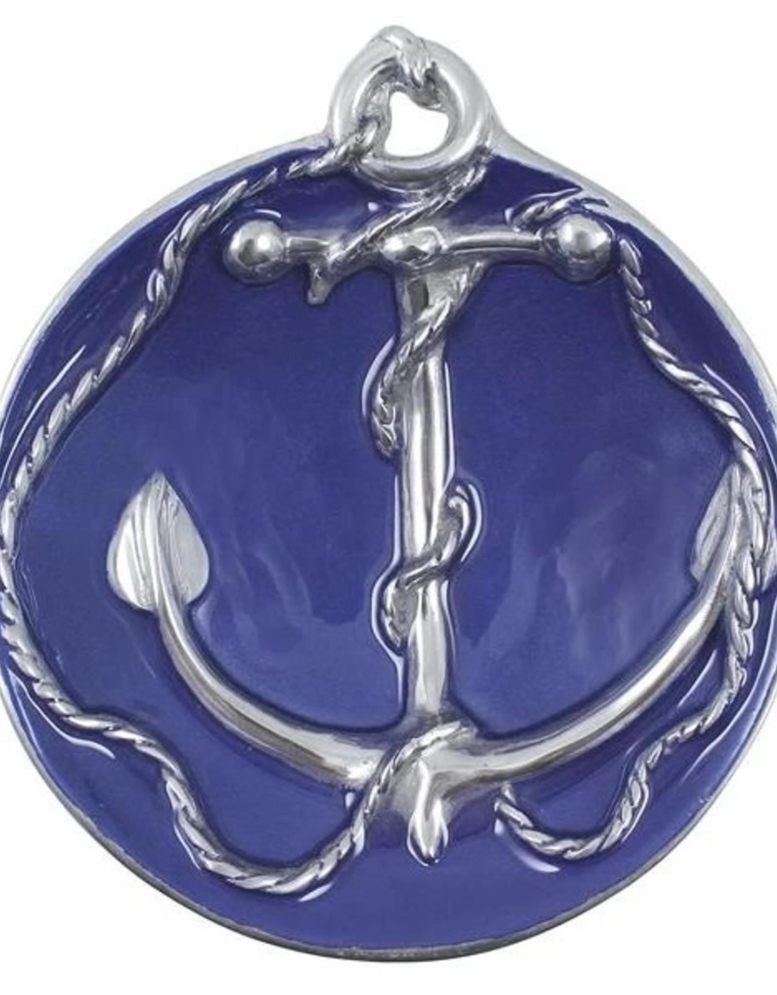 Anchor Sauce Dish Cobalt