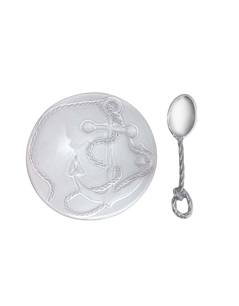 Mariposa Anchor Ceramic Canape Plate