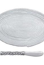 Ceramic Oval Rope Plate & Spreader