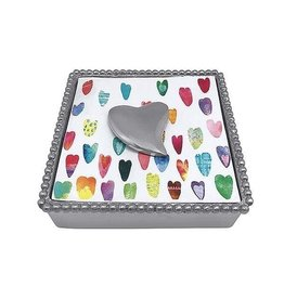 Mariposa Napkin Box - Heart
