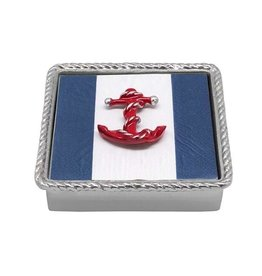 Napkin Box - Red Anchor Rope