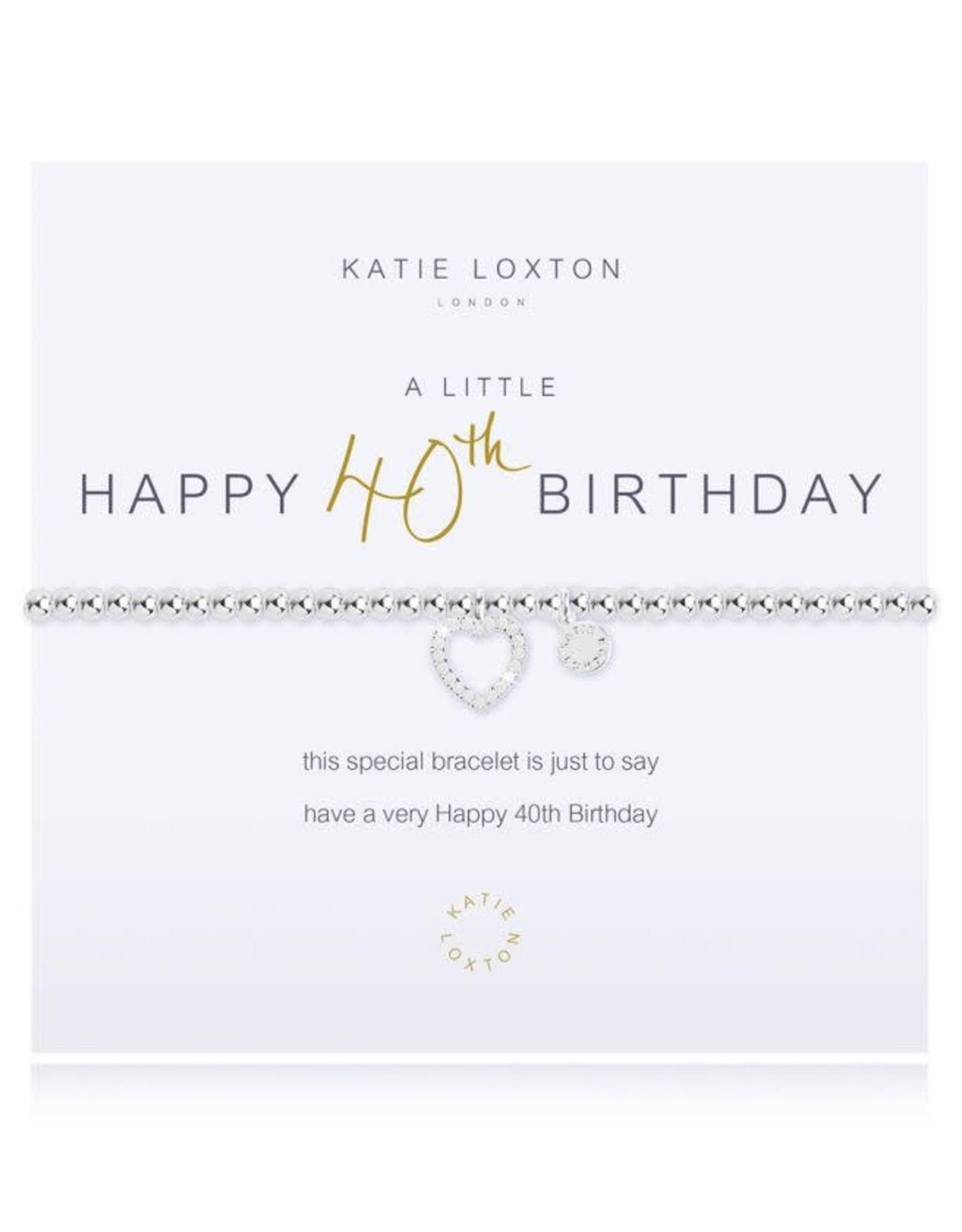 Katie Loxton Bracelet-40th Birthday