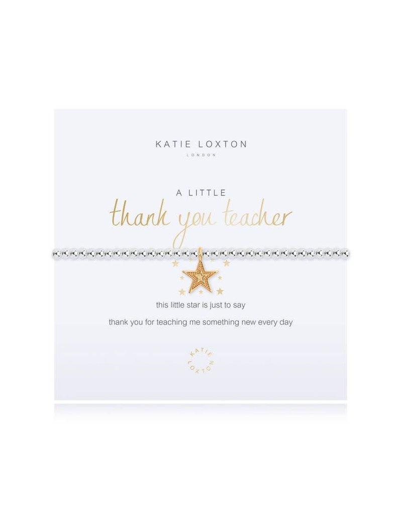 Katie Loxton Katie Loxton Bracelet-Thank You Teacher