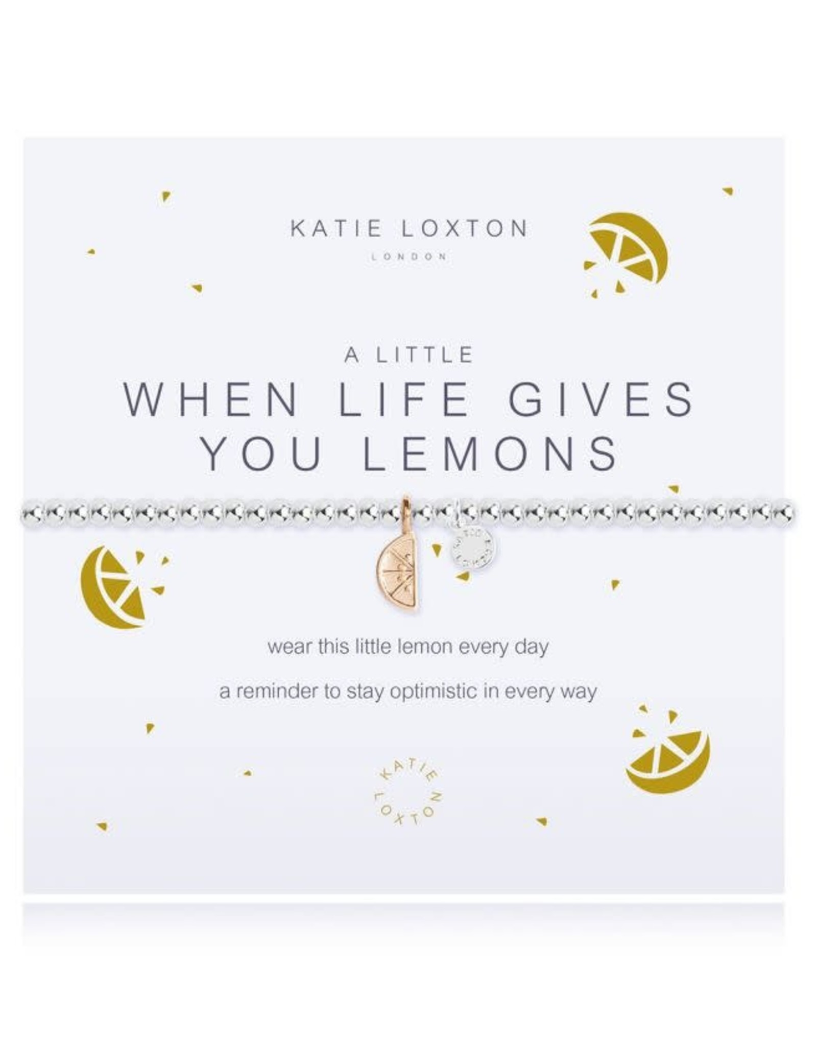 Katie Loxton Bracelet-When Life Gives You Lemons