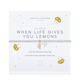 Katie Loxton Bracelet-When Life Gives You Lemons