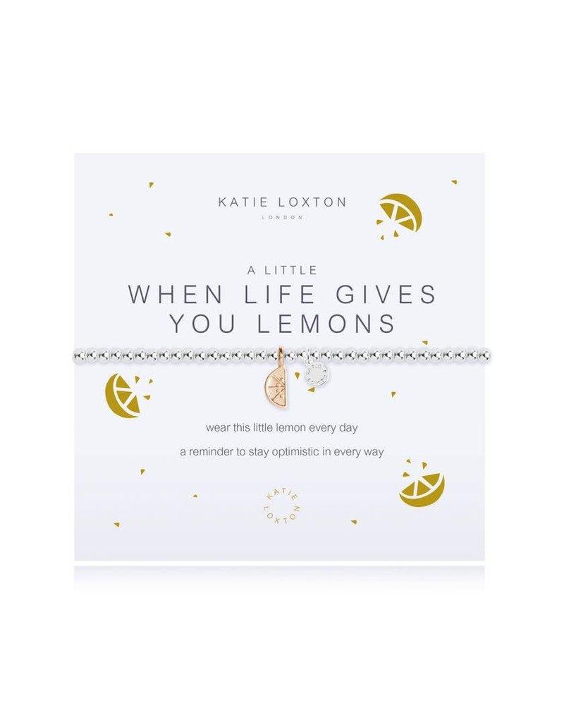 Katie Loxton Katie Loxton Bracelet-When Life Gives You Lemons
