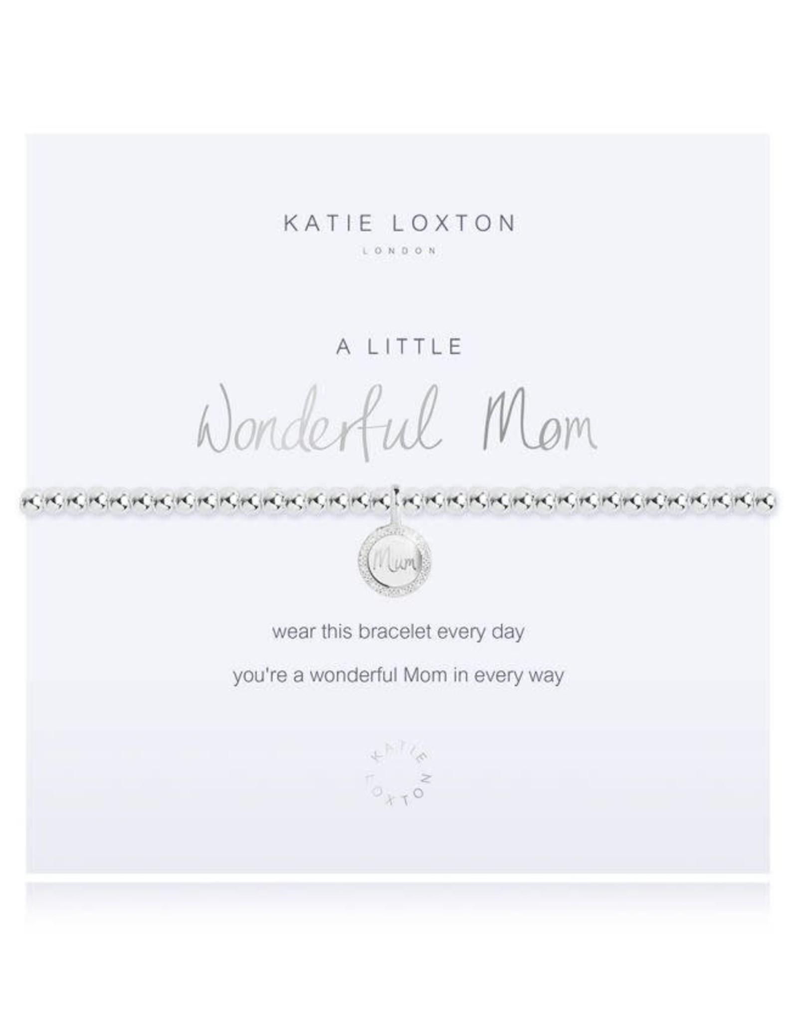 Katie Loxton Bracelet-Wonderful Mom Round Charm