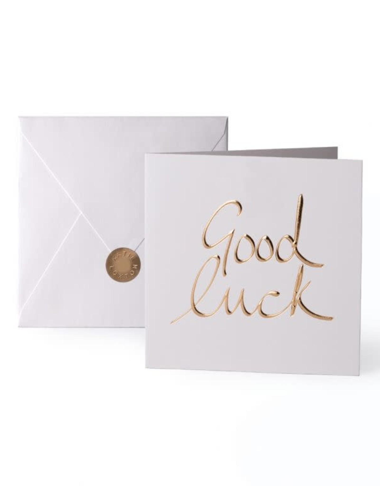 Katie Loxton Greeting Card-Good Luck