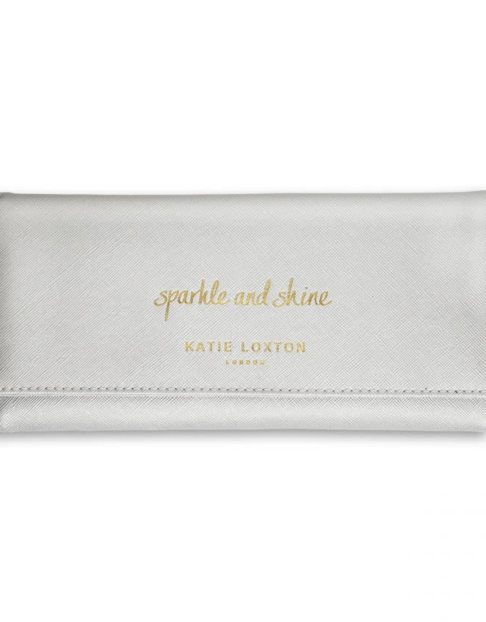 Katie Loxton Jewelry Roll-Sparkle and Shine Metallic Silver