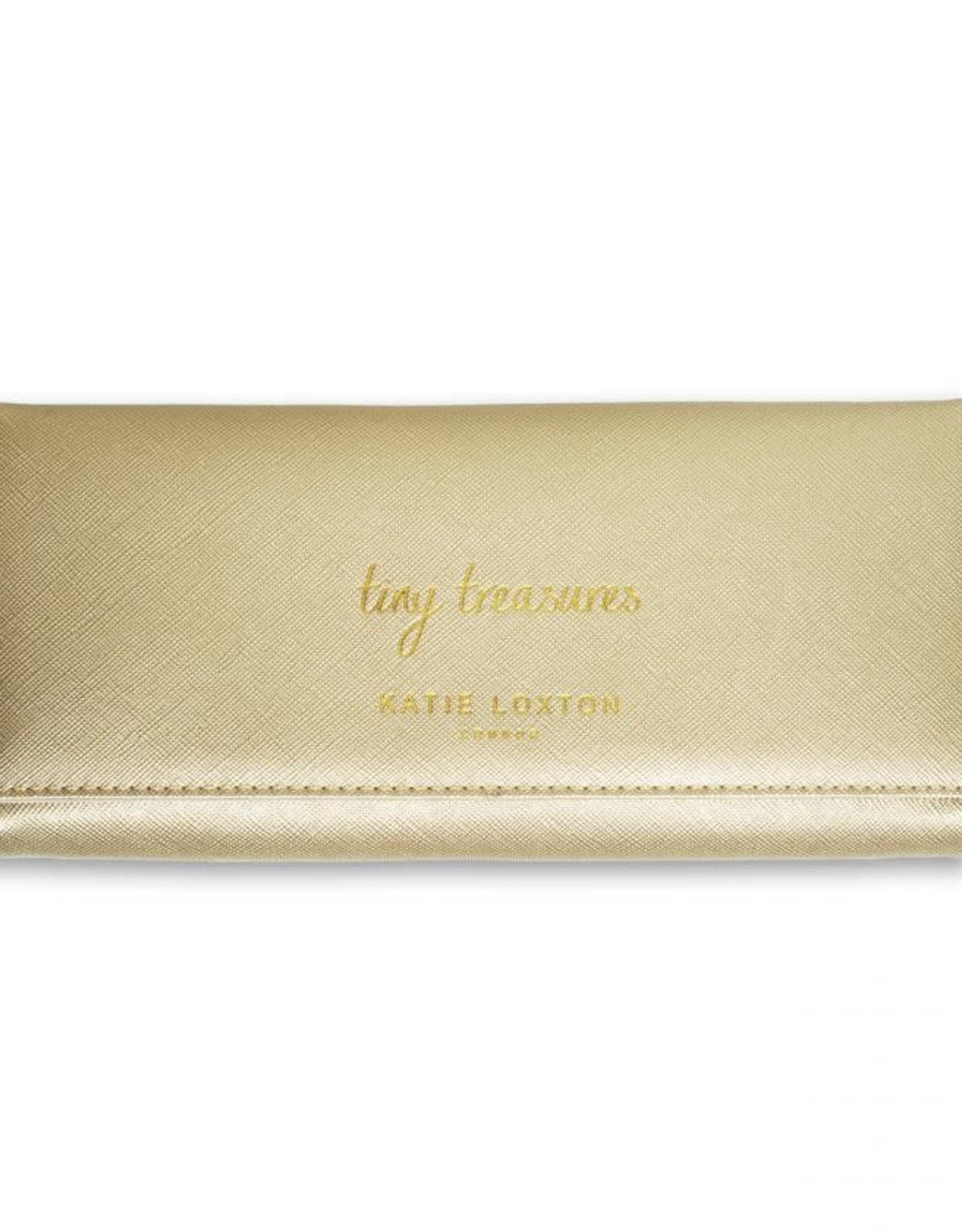 Katie Loxton Jewelry Roll-Tiny Treasures Metallic Gold