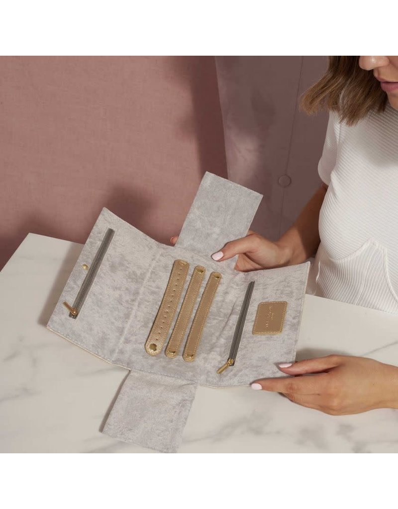 Katie Loxton Katie Loxton Jewelry Roll- Tiny Treasures Metallic Gold