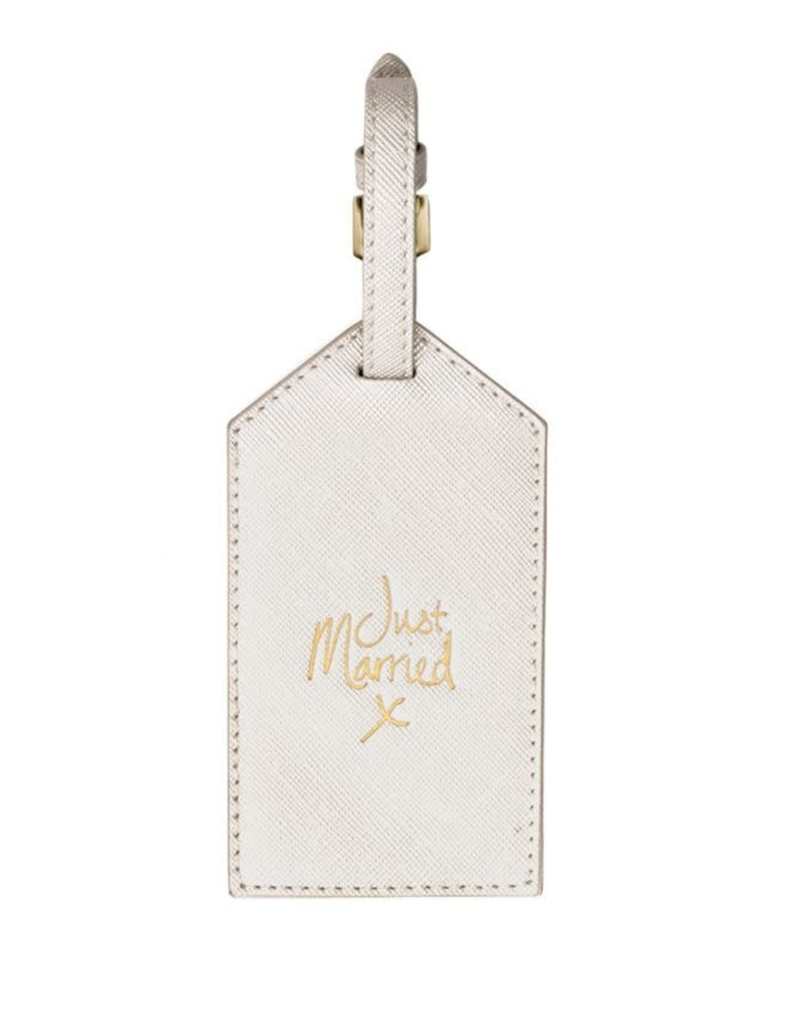 Katie Loxton Luggage Tag-Just Married Gold