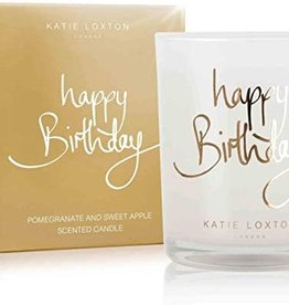 Katie Loxton Metallic Candle-Happy Birthday Pomegranate and Sweet Apple