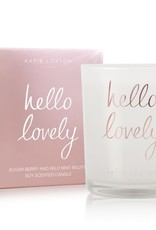 Katie Loxton Metallic Candle-Hello Lovely Sugar Berry and Wild Mint Mojito