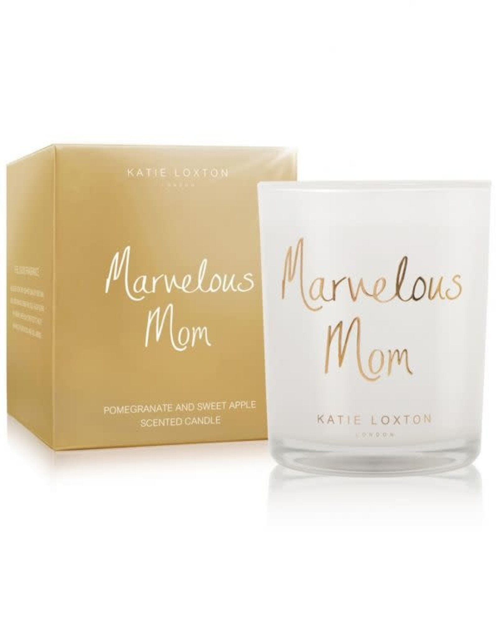 Katie Loxton Metallic Candle-Marvelous Mom Pomegranate and Sweet Apple