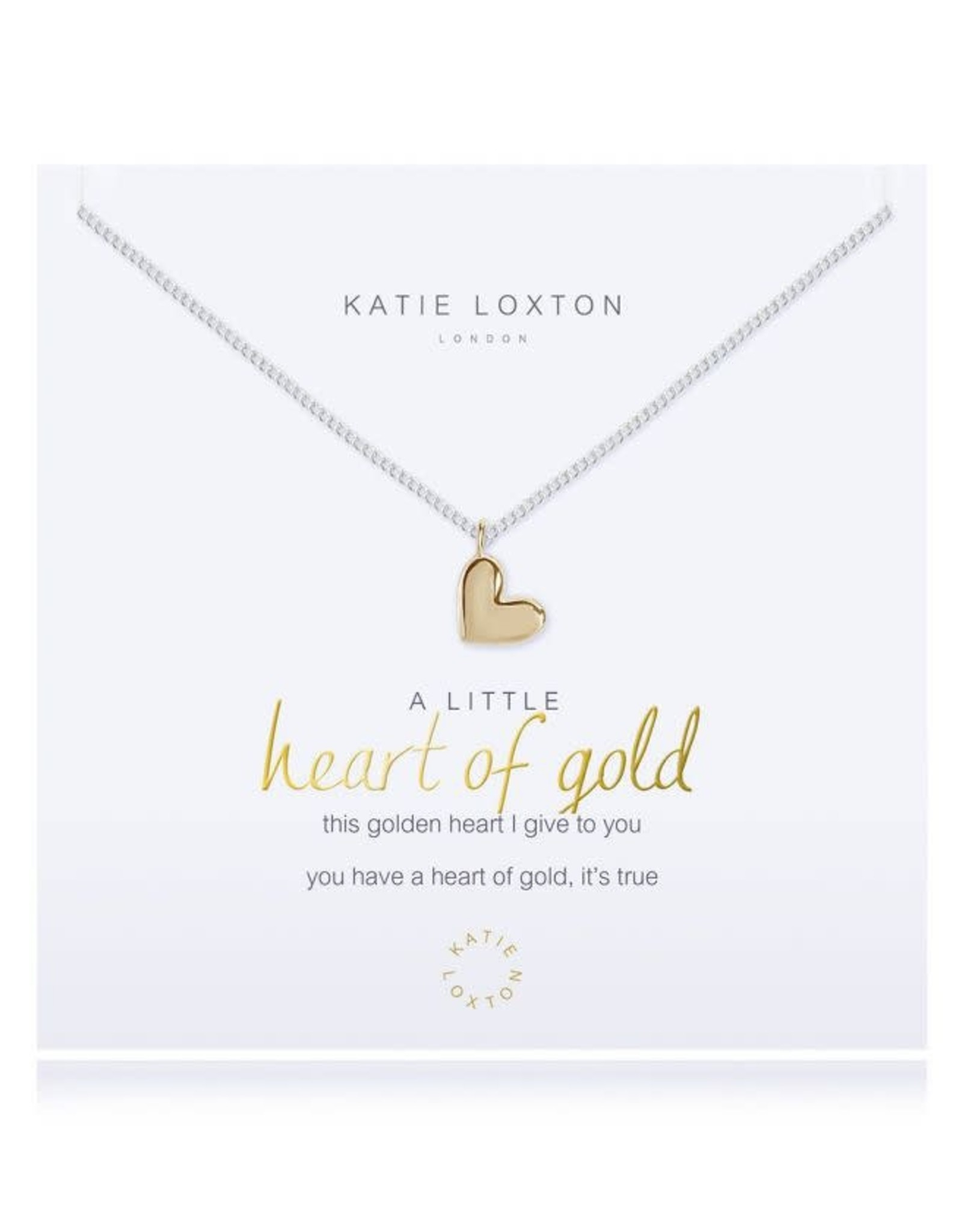 Katie Loxton Necklace-Heart Of Gold
