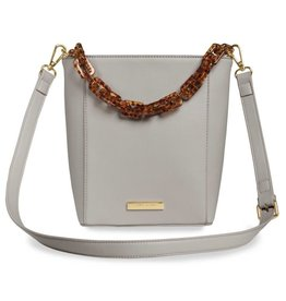 Katie Loxton Ayla Tortoiseshell Strap Bag Pale Grey