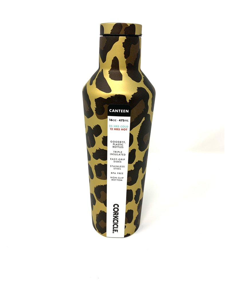 Corkcicle Corkcicle Canteen- 16oz Luxe Leopard