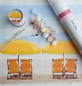 Pink Picasso Kits Paint by Numbers Kit Beach Bliss