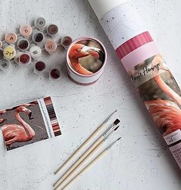 Pink Picasso Kits Paint by Numbers Kit Frannie Flamingo