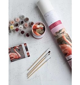 Paint by Numbers Kit Frannie Flamingo
