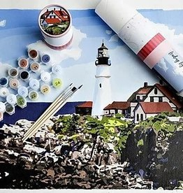 Pink Picasso Kits Paint by Numbers Kit Leading Lighthouse