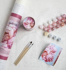 Pink Picasso Kits Paint by Numbers Kit Perfect Petals