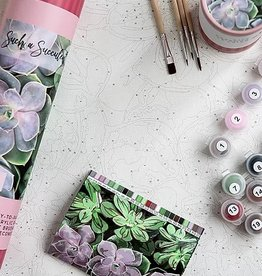 Pink Picasso Kits Paint by Numbers Kit Such a Succulent