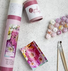 Pink Picasso Kits Paint by Numbers Kit Zealous Zinnia