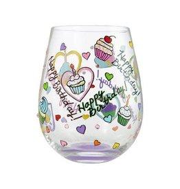 Stemless Wine Glass Birthday Cupcakes