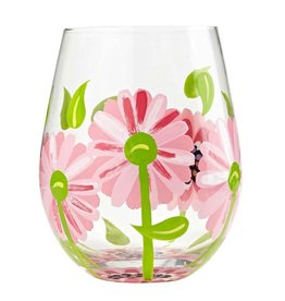 Stemless Wine Glass Oops a Daisy