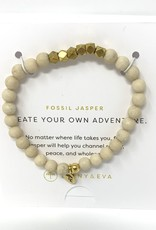 Lenny & Eva Gemstone Bracelet Fossil Jasper Create Your Own Adventure