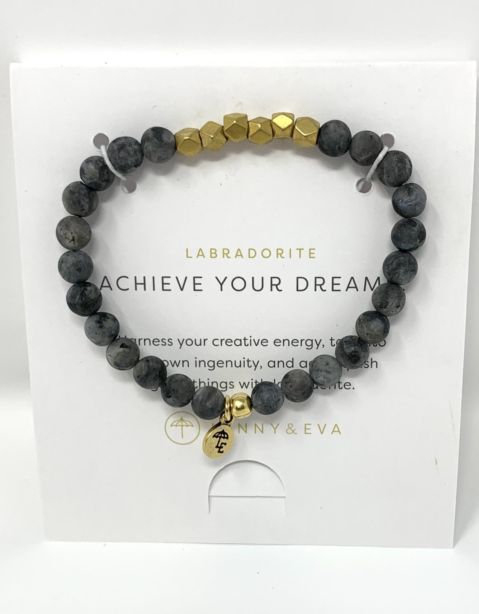 Lenny & Eva Gemstone Bracelet Labradorite Achieve Your Dreams