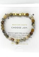 Lenny & Eva Gemstone Bracelet Mexican Agate Choose Joy
