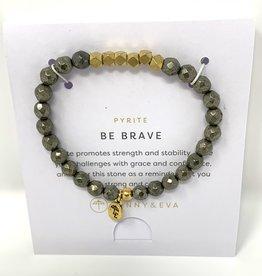 Lenny & Eva Gemstone Bracelet Pyrite Be Brave