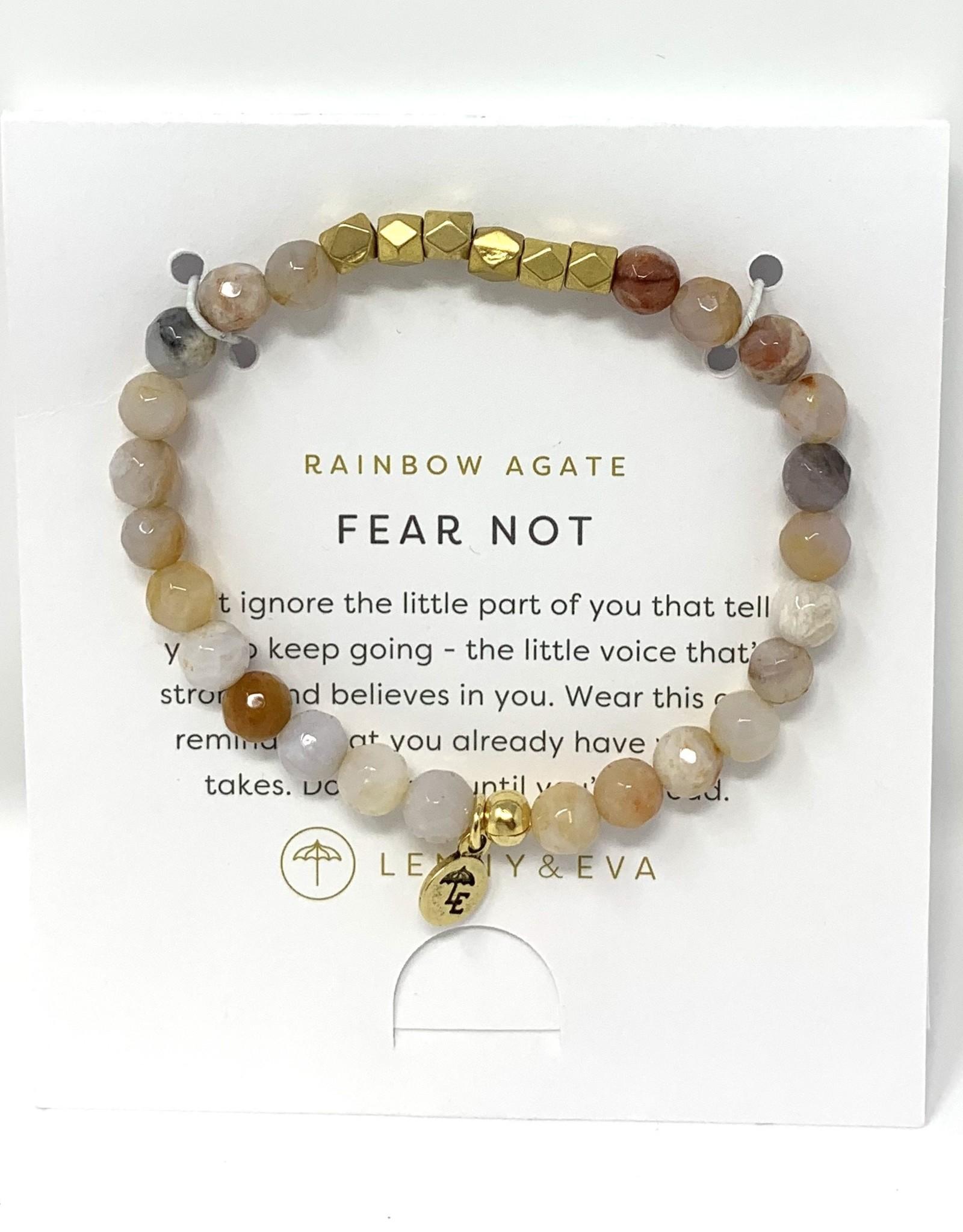 Lenny & Eva Gemstone Bracelet Rainbow Agate Fear Not
