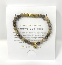 Lenny & Eva Gemstone Bracelet Silver Leaf Jasper You've Got This