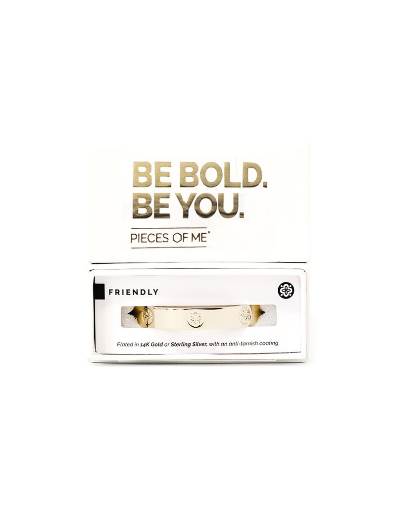 Pieces of Me Cuff Friendly Gold
