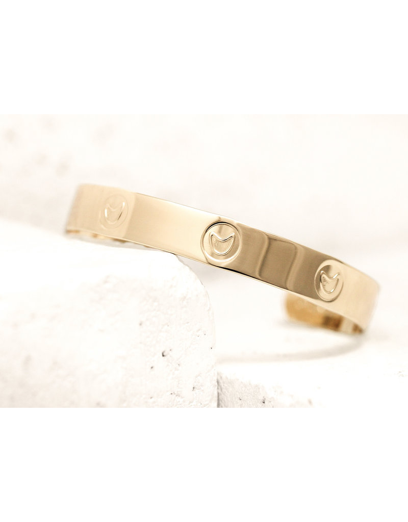 Pieces of Me Cuff Funny Gold