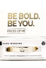 Pieces of Me Bracelet Hardworking Gold
