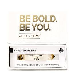 Pieces of Me Bracelet Hardworking Gold