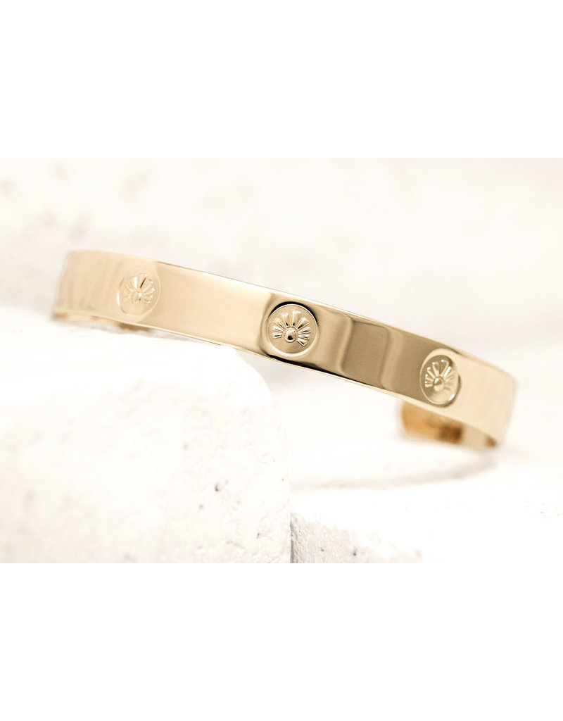 Pieces of Me Cuff Intelligent Gold