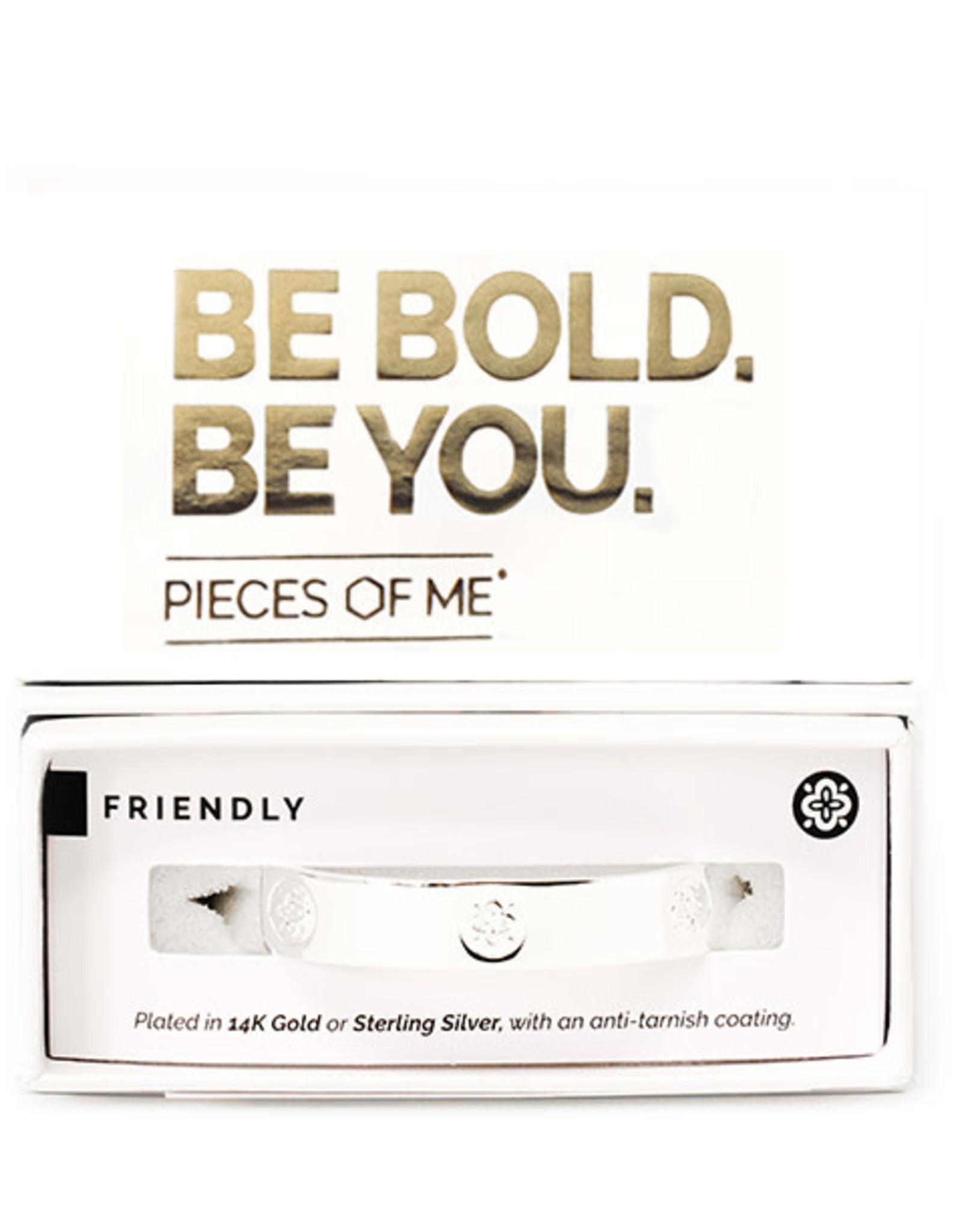 Pieces of Me Bracelet Friendly Silver