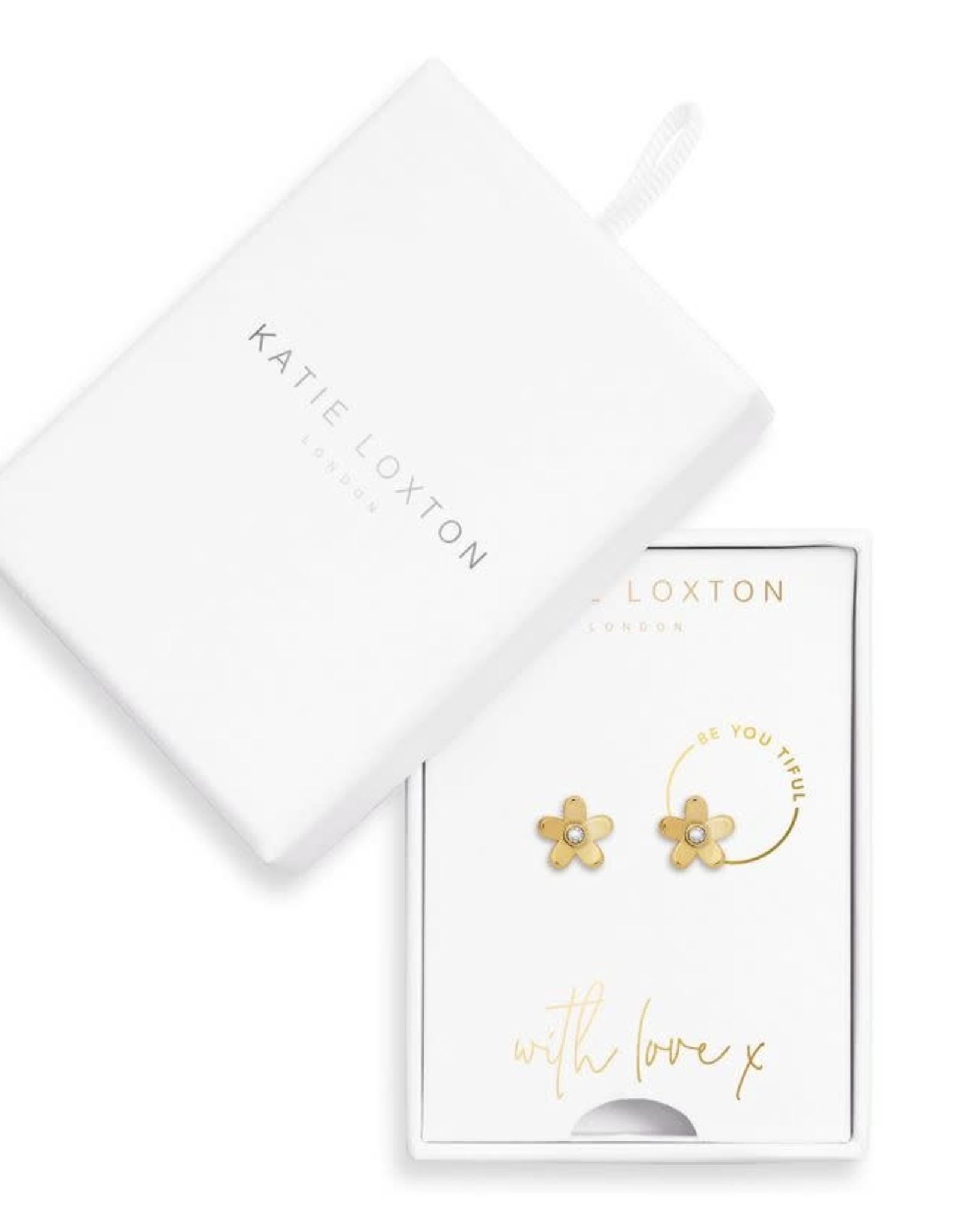 Katie Loxton Earring Box Gold Be You Tiful