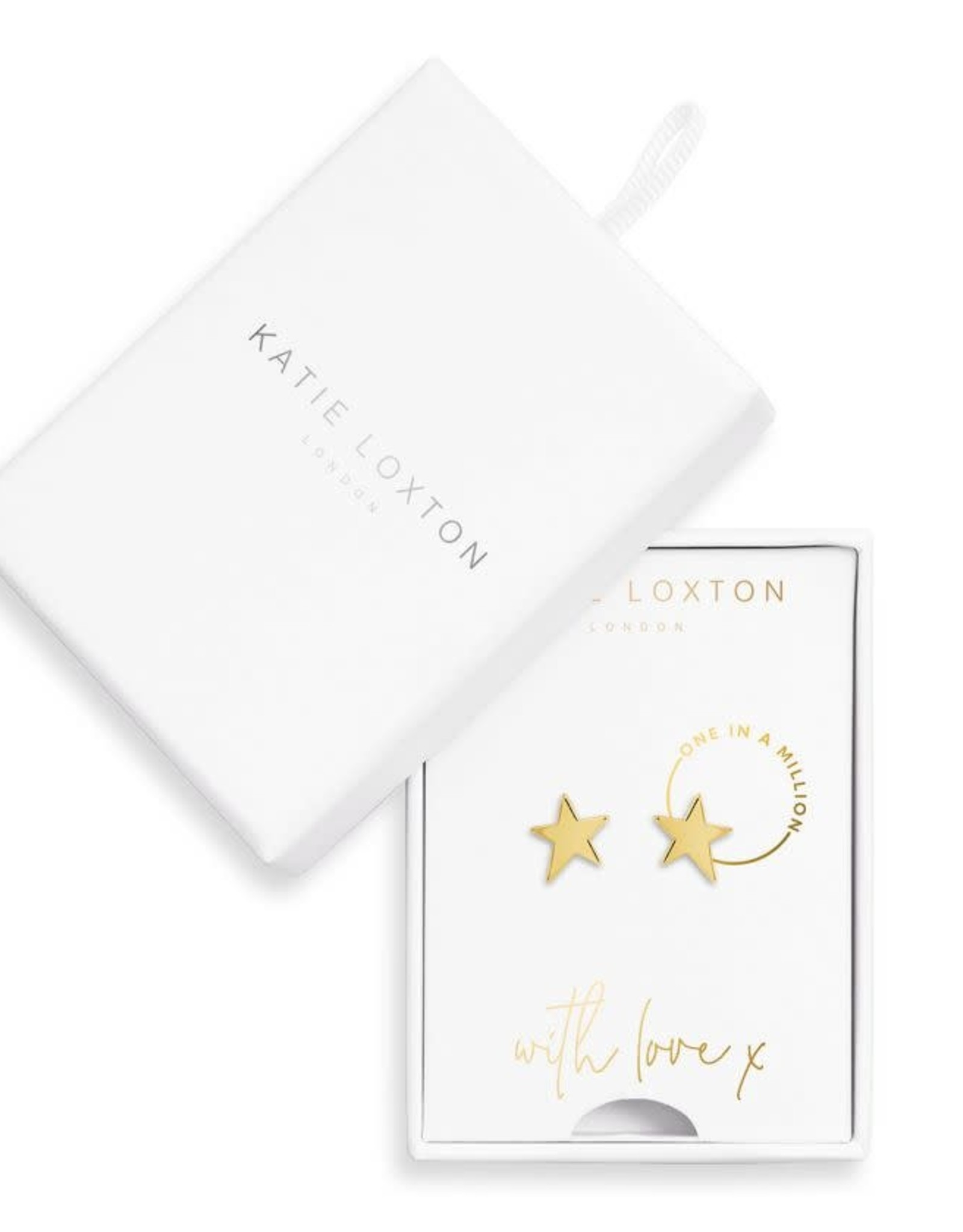 Katie Loxton Earring Box Gold One in a Million