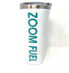 Zoom Fuel Corkcicle Tumbler White/Turquoise