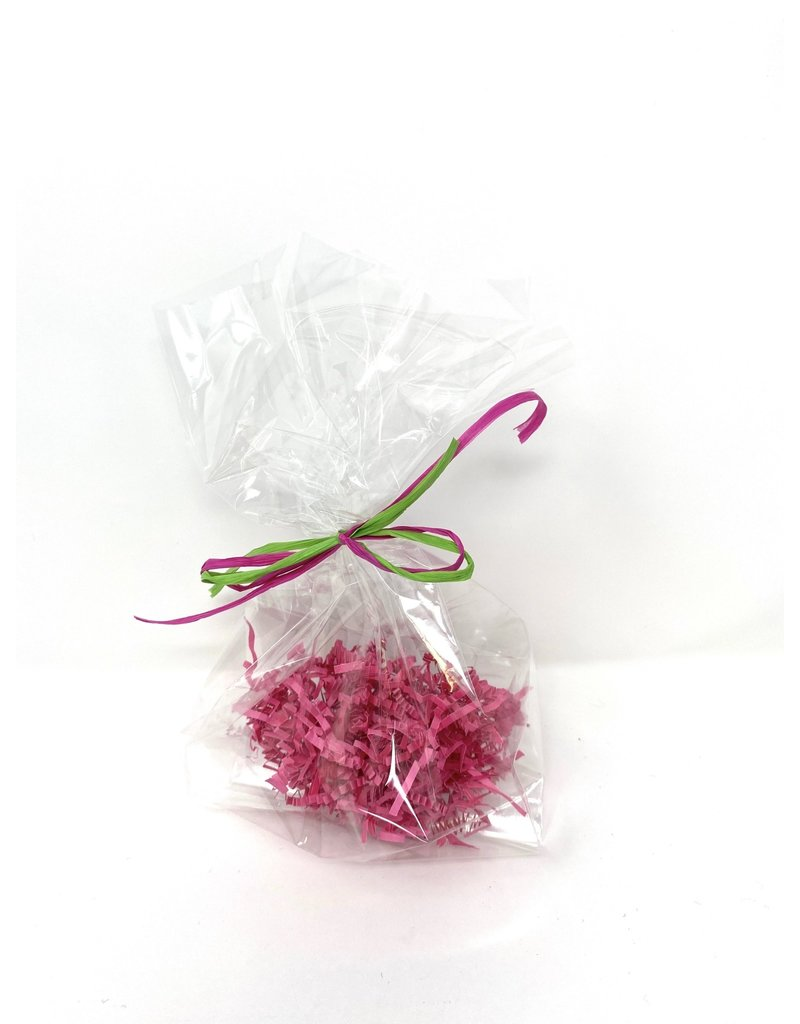 Gift Wrap Cello Bag with Colored Shred and Bow
