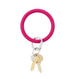 O Venture Big O Silicone Keyrings I Scream Pink