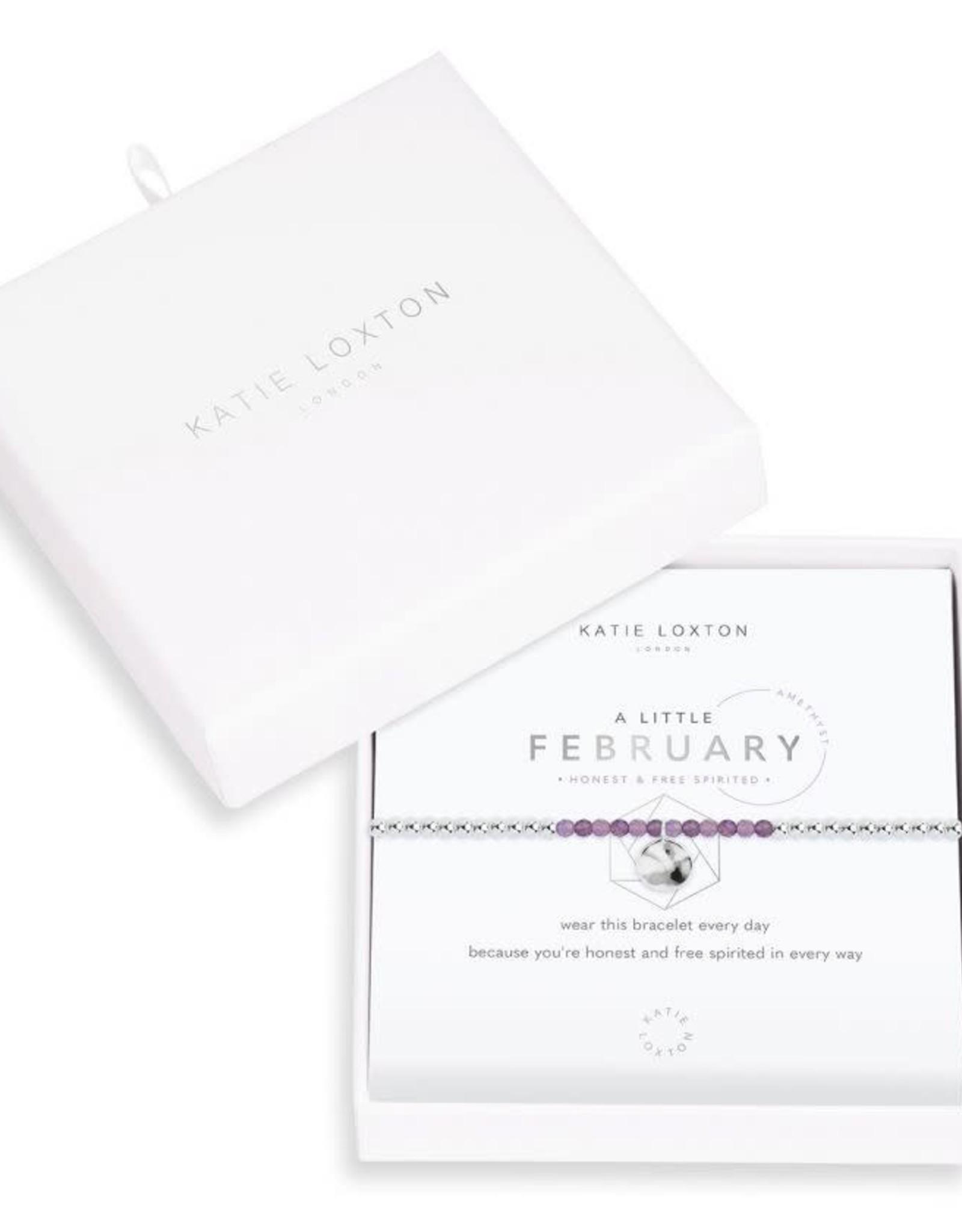 Katie Loxton Little Birthstone Bracelet February Amethyst