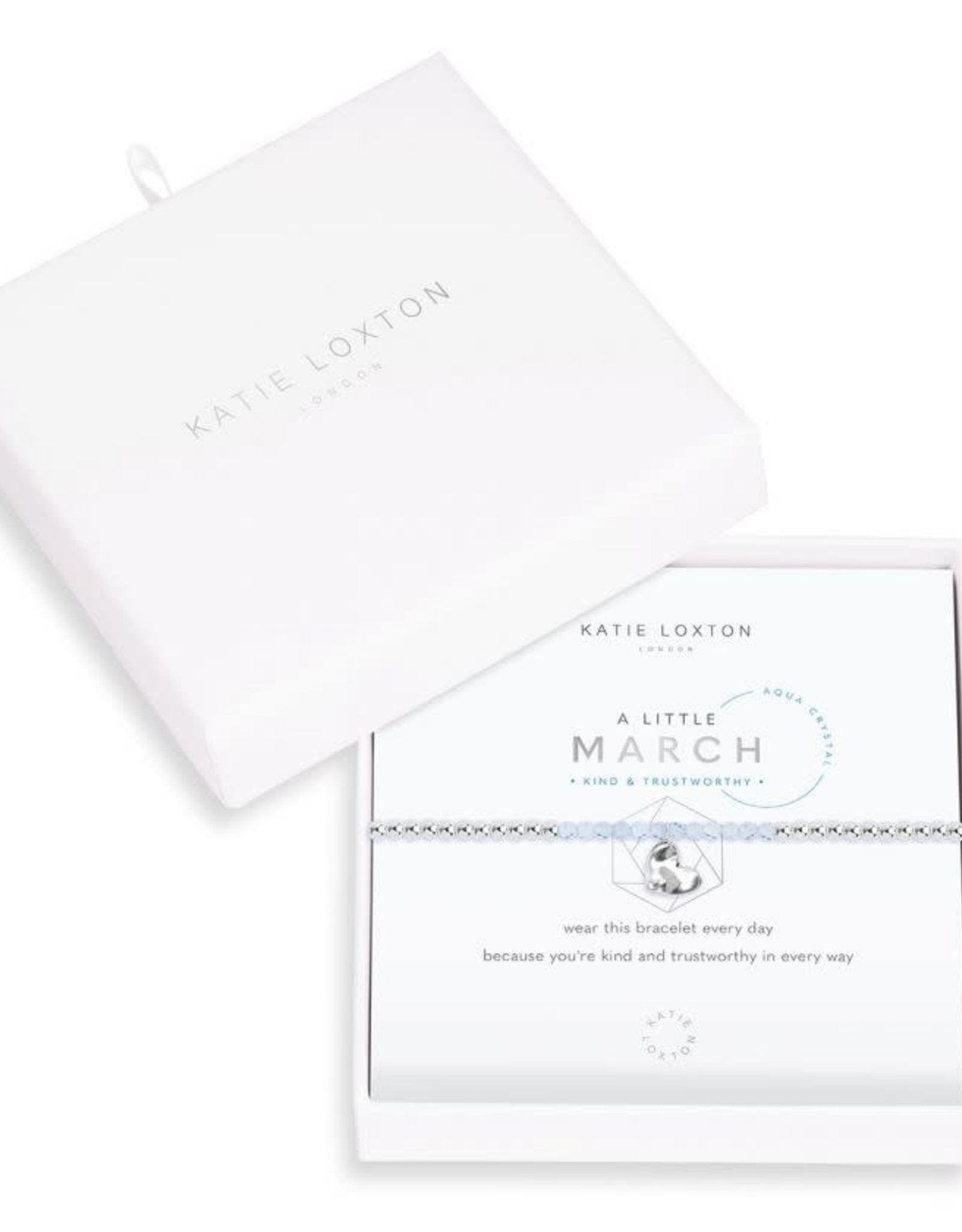 Katie Loxton Little Birthstone Bracelet March Aqua